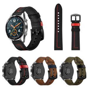 Huawei Onur GT Sihirli Watch Band 22mm Hakiki Deri Kayış Huawei Sihirli İzle Kayışı Değiştirmeleri Onur Sihri