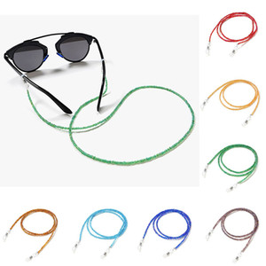 2020 Fashion Beaded Crystal Glasses Neck Strap Sunglass Chain Candy Color Eyeglasses Lanyard Rope Beads sunglass Cord Holder