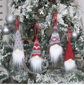 Weihnachtsdekoration Handmade Schwedische Gnome skandinavisch Tomte Santa Nisse Nordic Plüsch Elf Spielzeug Weihnachtsbaum Ornament Weihnachtsdekorationen