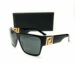 Brand New VE4296 GB1 87 Black Grey Lens Mens Square Sunglasses 59mm Eyeglasses Polarized Gray For Men Comes with original Case ,Cloth &Box