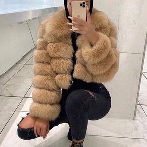 BFFUR Kısa Gerçek Fox Kürk Mont Kadınlar 2020 Kış Moda Doğal Tüm Cilt Hakiki Fox Kürk Ceketler Kürk Yaka Paltolar LJ201203