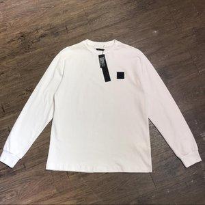 20ss Geometric Badge Langarm-T-Shirt für Männer Frauen Mode Blusen mit Buchstaben Frühling Tops Homme Kleidung