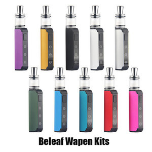 Authentic Beleaf Wapen Wax Vaporizer Starter Kit 450mAh Concentrate Vape Box Mod Kit Variable Voltage Function with Ceramic Chamber Genuine