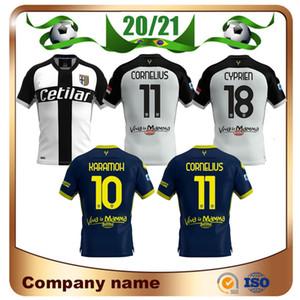 20/21 Parma Футбол Джерси 2020 г. Parma Home White # 27 Гервинхо-рубашки прочь у Armamh Cornelius Cyprien Футбольная форма