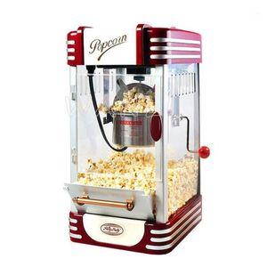 New Commercial Automatic Hand Crank Mini Small Children's Popcorn Machine Ball Type Home Popcorn Machine1