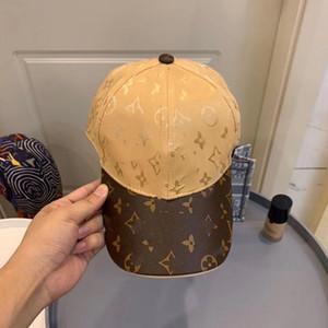 2021 gold men baseball cap hip hop designers caps hats mens full letter print brown fashion designer cap