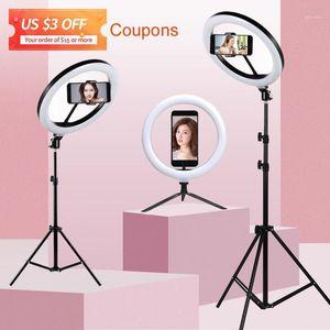 Selfie Ring Light With Tripod Stand Use For Tik Youtube Tiktok Tok Mobile Phone Smartphone Camera Led Lamp Holder Ringlight1
