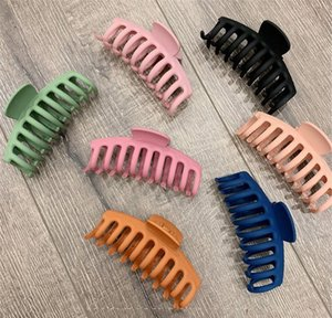 1pc Korean Solid Big Hair Claws Elegant Frosted Acrylic Hair Clips Hairpins Barrette Headwear For Women Girl jllERQ nana_home