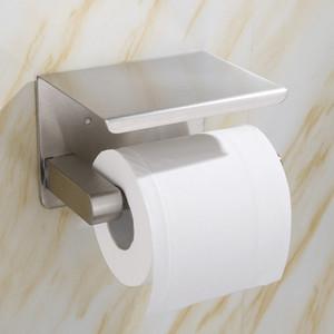 Yaratıcı Tuvalet Kağıdı Tutucu Siyah Delikli Rulo Kağıt Tutucu Tuvalet Paslanmaz Çelik Cep Telefonu Kağıt Havlu Tutucu Stokta