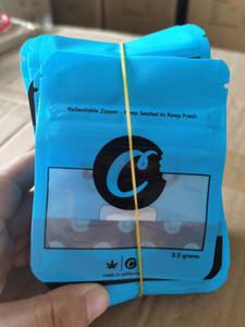 Les plus récents biscuits Californie SF 8ème 3.5g Mylar Sacs à enfants 420 Emballage Cookies Connectés Sac Taille 7G 28g 3,5 g-1/8 Sacs