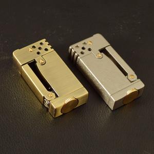 Metal Retro Kerosene Lighter Refillable Gasoline Lighter Side Press Ignition Oil Lighter Gift For Men