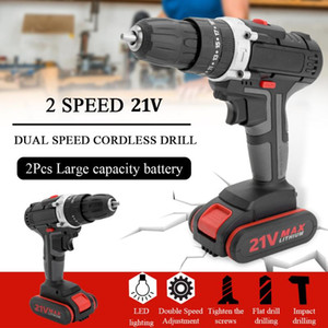 Electric Impact Cordless Drill High-power Lithium Battery Wireless Rechargeable Hand Drills Home DIY Electric Power Tools