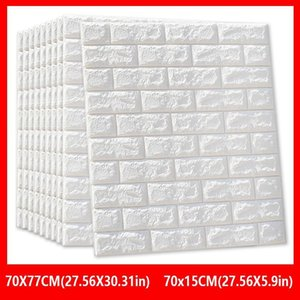 Sticker 10pcs Decor Kids Wall 70*77 DIY Self-Adhesive Foam Wallpaper Waterproof Covering For 3D Brick Room Kitchen Stickers Dlbgn