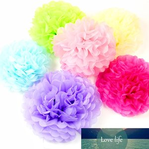 1 pezzo 4 pollici 10cm carta velina POM POM POMS Wedding Party Decor carta Pompon Flower per natale decorazione feste Pompoms carta