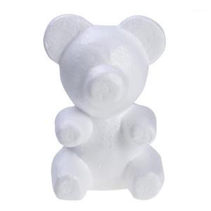 200mm Décoration de mariage Bear Modeling Modeling Polystyrène Boulettes d'artisanat en mousse Blanc pour DIY Party Decor Cadeaux1