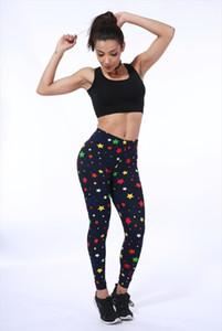New 2020 Print Flower Leggings Leggins Plus Size Legins Flowers Thin Nine Pant Fashion Women Clothing aptitud Trousers