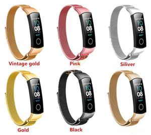 Akıllı İzle Band Bilek Bandı Watchband Moda Milanese Paslanmaz Çelik Yedek Huawei Honor 4 için Manyetik Kayış