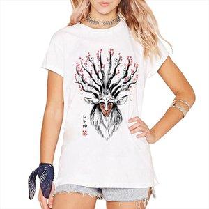 Nouveau mode princesse dieu du design femmes Four Forêt Tops 2021 Deer Summer Fantastic Mononoke Sleeve Shirt Tees Short Harajuku JCLAQ