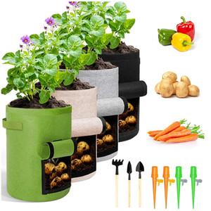 Plant Grow Bags Home Giardino Giardino Pot Pot Borsa a Gerro Verdure Verdure Borse in crescita idratante Jardin Vertical Garden Borsa Utensili VTKY2124