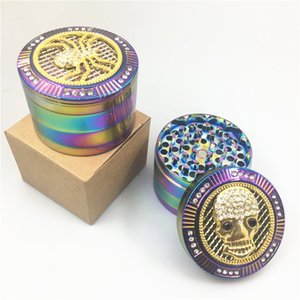 Cheap herb grinder 4 parts 63mm Creative design CNC Zinc alloy grinder smoking dry tobacco grinders for tobacco pipe hookah bongs