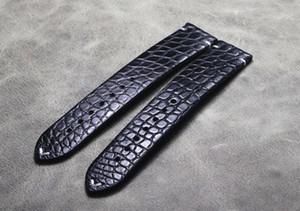 Handmade Crocodile Watch strap Alligator Skin Genuine Leather Watchband Belt Bracelets16 18 19 20 21 22mm Watch accessories Men LJ201120