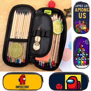 Among Us Creative Cartoon Pencil Case for Kid Teenager Boys Girls Student Cute School Birthday Gift Pen Case