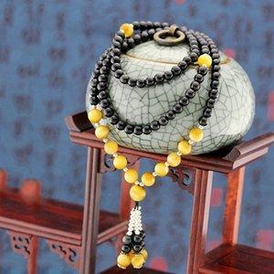 Großhandel Golden Tiger Eye Naturstein Armbänder Schwarzer Turmalin Weiß Shell Glückliche Energie-Stein-Armbänder Schmuck JoursNeige