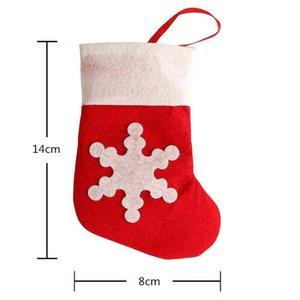 Mini Noel Çorap Kar Tanesi Çatal Çantası Noel Ev Dekorasyon Noel Çorap Bıçak Çatal Sofra Tutucu Noel Hediye Çantası HH9-3542