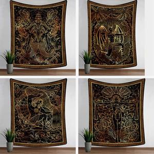 Hexerei Tarot-Karte Tapisserie Mandala Wand hängen Tuch Badetuch Decke 12 Konstellation Wahrsagerei Tapisserien Wohnkultur