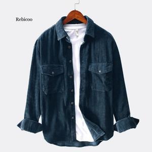 Rebicoo shirt men laple autumn winter tops Long Sleeve mens shirts casual slim fit camisa hombre