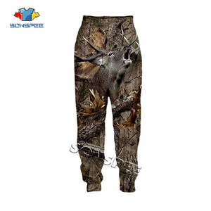 SONSPEE Animal Hunting Hunter 3D Print Harajuku Men Sweatpants Novelty Streetwear Women Fashion Casual Trousers Unisex Long Pant 201015