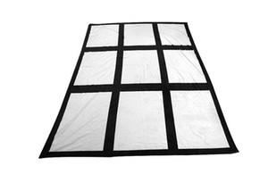 Sublimation 9 15 Panel Blanket White Blank Flannel Carpet Square Blankets Theramal transfer Printing Rug