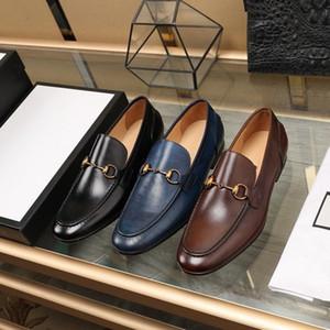 العلامة التجارية عالية الجودة الرجال جلد البقر دعوى الرسمية مكتب الأعمال اللباس حذاء الزفاف الأزياء الأخفاف القيادة هورسوبيت المتسكعون أوكسفورد، 38-44