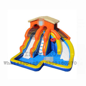 Inflatable Water Slide Bouncer House with Double Lane for Children Outdoor Entertainment