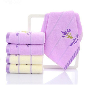 Cotton Lavender Face Towel Soft Absorbent romantic Love Towel Women Family Bathroom Gift Bath Accesory 34*75cm Hand