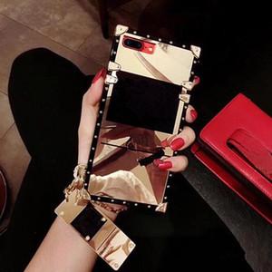 Caso de telefone quadrado de luxo para samsung galaxy s21 ultra s20 fe s10 plus nota 20ultra 10plus 9 para iphone 12 mini 11 pro max xs xr 7 mais 8