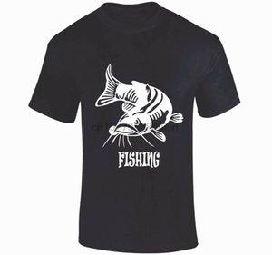 CATFISH FISHING T SHIRT White carp perch bass fishing angling tackle Small - XXL sport Hooded Sweatshirt Hoodie