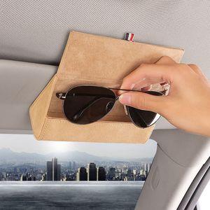 Горячий автостекло клип Держатели для Holder автомобилей Солнцезащитные очки Очки для хранения Организатор Box Case очки Sun Visor очки Box