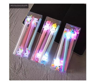 4Pcs Set Gel Pen Unicorn Pen Stationery Kawaii School Supplies Gel Ink Pen School Stationery Office Suppliers Pens Kids Gifts