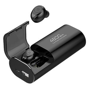 Wireless Bluetooth 5.0 Headphones with 4800MAh Charging Case [As Power Bank] with Mic USB Type C Cable TWS Stereo In-Ear Earphon