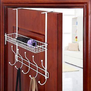 Door Hanger Rack 5 Hooks Kitchen Organizer Holder Storage Rack Towel Coat Hanger Bag Keys Cloth Holder Wall Bathroom