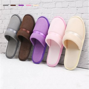 High 10 pairs lot Quality New Simple Unisex Hotel Travel Spa Portable Slippers Disposable Home Guest Indoor Cotton