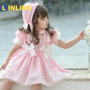 LINLING Cute Girl Summer Lolita Dress Toddler Princess Dress for Kids Baby Girls Spanish Birthday Party Christmas Boutique V375