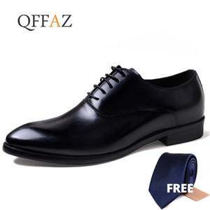 QFFAZ MENS zapatos formales de cuero genuino Oxford zapatos para hombres Italiano 2020 Vestido Cordones de boda Cordones de cuero