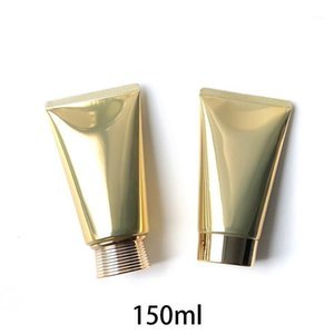 Vacío 150g de aluminio de oro plástico compuesto de compuesto de compás contenedores cosméticos 150 ml de loción de cara tubos de crema envío gratis1