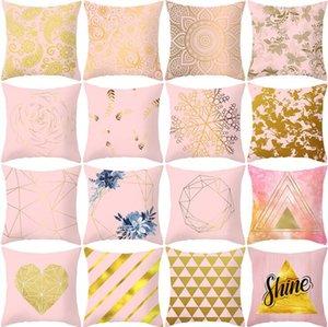 45 * 45 cm Nordic Style Pillow Case Stampato Cuscino Cuscino Stripe Geometric Lattice Cuscino Cover Casa Camera da letto Decorazione Decorazione GWD4646