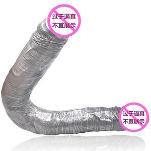 cabeça dupla Dildo por Mulheres Long Dildo Big Dildo macio e flexível Vagina Anal Brinquedos para adultos brinquedos dupla Dong para Lesbian