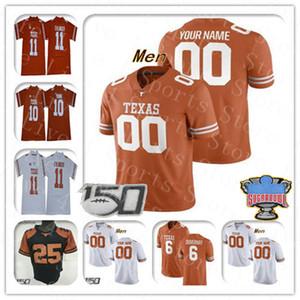 Benutzerdefinierte 2021 Texas Longhorns Jersey Football Sam Ehlinger Bijan Robinson Joshua Moore Casey Thompson Juwan Mitchell Rosschon Johnson Smith 4XL