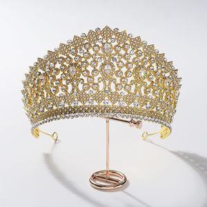 Wunderschöne Zirkonia Kristall Hochzeit Braut Tiaras Crowns DIAdem Frauen Haarschmuck Zubehör Abendparty Geschenke