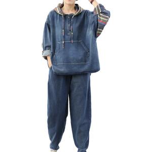 Limindspcxqq printemps mode dames deux morceaux définissent les blazers vintage de femmes Streetwear Pants Tops 0D26
